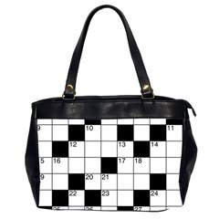Crosswords  Office Handbags (2 Sides)  by Valentinaart