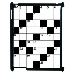 Crosswords  Apple Ipad 2 Case (black) by Valentinaart