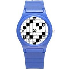 Crosswords  Round Plastic Sport Watch (s) by Valentinaart