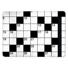 Crosswords  Samsung Galaxy Tab Pro 12 2  Flip Case by Valentinaart