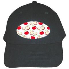 Apple Pattern Black Cap by Valentinaart