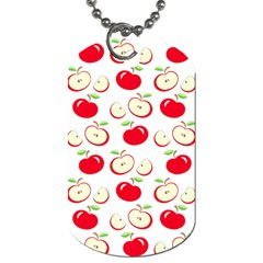 Apple Pattern Dog Tag (two Sides) by Valentinaart