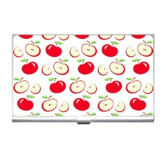 Apple Pattern Business Card Holders by Valentinaart