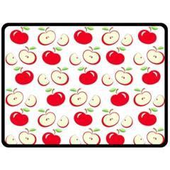 Apple Pattern Double Sided Fleece Blanket (large)  by Valentinaart