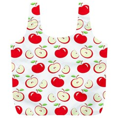 Apple Pattern Full Print Recycle Bags (l)  by Valentinaart