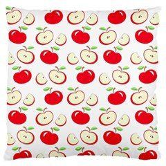Apple Pattern Large Flano Cushion Case (one Side) by Valentinaart