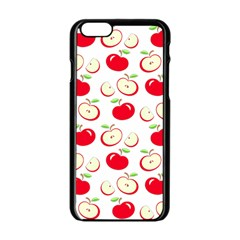 Apple Pattern Apple Iphone 6/6s Black Enamel Case by Valentinaart