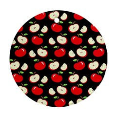 Apple Pattern Round Ornament (two Sides) by Valentinaart