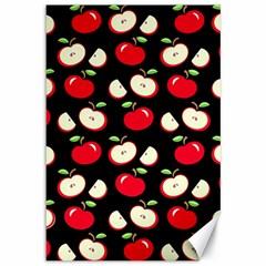 Apple Pattern Canvas 12  X 18   by Valentinaart