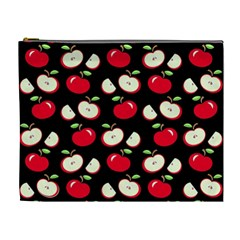 Apple Pattern Cosmetic Bag (xl) by Valentinaart