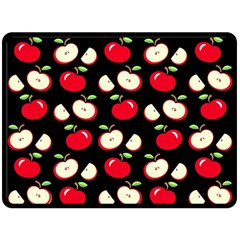 Apple Pattern Fleece Blanket (large)  by Valentinaart