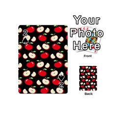 Apple Pattern Playing Cards 54 (mini)  by Valentinaart