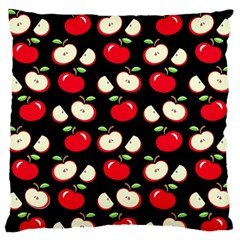 Apple Pattern Large Flano Cushion Case (two Sides) by Valentinaart