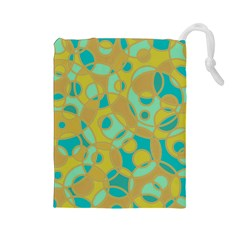 Pattern Drawstring Pouches (large)  by Valentinaart