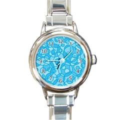 Pattern Round Italian Charm Watch by Valentinaart