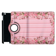 Pink Peony Outline Romantic Apple Ipad 3/4 Flip 360 Case by Simbadda