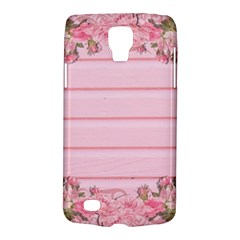 Pink Peony Outline Romantic Galaxy S4 Active by Simbadda