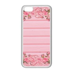 Pink Peony Outline Romantic Apple Iphone 5c Seamless Case (white) by Simbadda