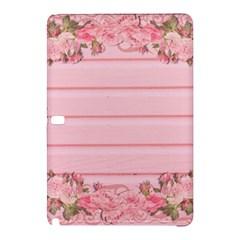 Pink Peony Outline Romantic Samsung Galaxy Tab Pro 10 1 Hardshell Case by Simbadda