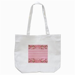 Pink Peony Outline Romantic Tote Bag (white) by Simbadda