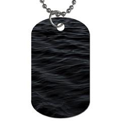 Dark Lake Ocean Pattern River Sea Dog Tag (two Sides) by Simbadda