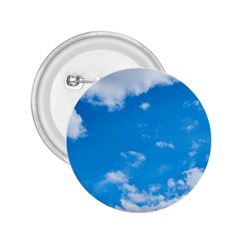 Sky Blue Clouds Nature Amazing 2 25  Buttons by Simbadda