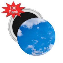 Sky Blue Clouds Nature Amazing 2 25  Magnets (100 Pack)  by Simbadda