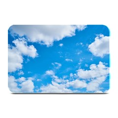 Sky Blue Clouds Nature Amazing Plate Mats by Simbadda
