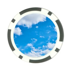 Sky Blue Clouds Nature Amazing Poker Chip Card Guard by Simbadda