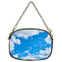 Sky Blue Clouds Nature Amazing Chain Purses (one Side)  by Simbadda