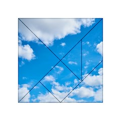 Sky Blue Clouds Nature Amazing Acrylic Tangram Puzzle (4  x 4 ) by Simbadda