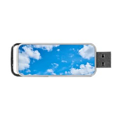 Sky Blue Clouds Nature Amazing Portable Usb Flash (two Sides) by Simbadda