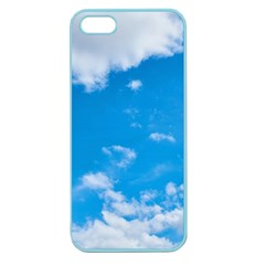 Sky Blue Clouds Nature Amazing Apple Seamless Iphone 5 Case (color) by Simbadda