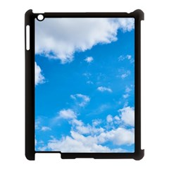 Sky Blue Clouds Nature Amazing Apple Ipad 3/4 Case (black) by Simbadda