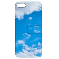 Sky Blue Clouds Nature Amazing Apple Iphone 5 Hardshell Case With Stand by Simbadda