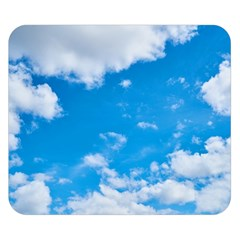 Sky Blue Clouds Nature Amazing Double Sided Flano Blanket (small)  by Simbadda