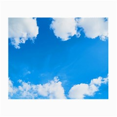 Sky Clouds Blue White Weather Air Small Glasses Cloth by Simbadda