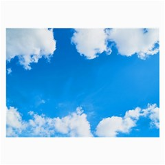 Sky Clouds Blue White Weather Air Large Glasses Cloth by Simbadda