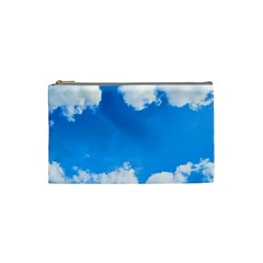 Sky Clouds Blue White Weather Air Cosmetic Bag (small)  by Simbadda
