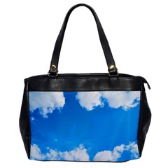 Sky Clouds Blue White Weather Air Office Handbags by Simbadda