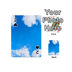 Sky Clouds Blue White Weather Air Playing Cards 54 (mini)  by Simbadda