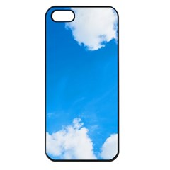 Sky Clouds Blue White Weather Air Apple Iphone 5 Seamless Case (black) by Simbadda