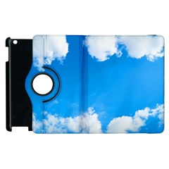 Sky Clouds Blue White Weather Air Apple Ipad 2 Flip 360 Case by Simbadda