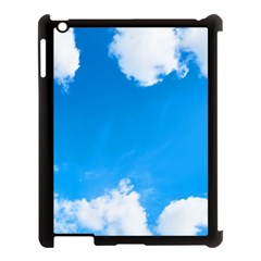 Sky Clouds Blue White Weather Air Apple Ipad 3/4 Case (black)