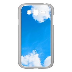 Sky Clouds Blue White Weather Air Samsung Galaxy Grand Duos I9082 Case (white) by Simbadda