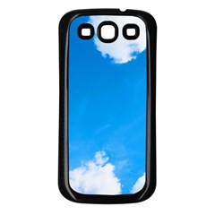 Sky Clouds Blue White Weather Air Samsung Galaxy S3 Back Case (black) by Simbadda