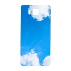 Sky Clouds Blue White Weather Air Samsung Galaxy Alpha Hardshell Back Case by Simbadda