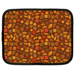 Pattern Background Ethnic Tribal Netbook Case (xl)  by Simbadda