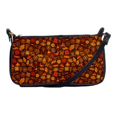 Pattern Background Ethnic Tribal Shoulder Clutch Bags by Simbadda