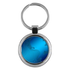 Fractals Lines Wave Pattern Key Chains (round)  by Simbadda